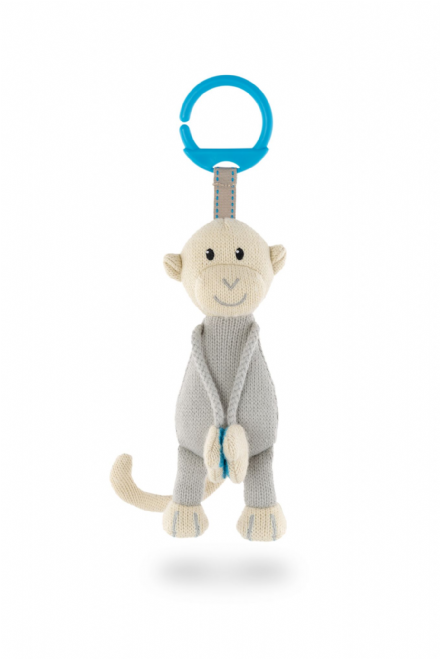 Knitted Hanging Monkey Toy